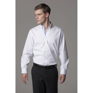 Contrast premium Oxford shirt (button-down collar) long sleeve Thumbnail